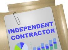 Contratista independiente - concepto del negocio ilustración del vector