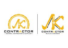 Contratista Logo Vector Design stock de ilustración