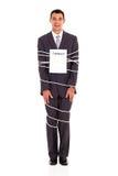 Contrato amarrado homem de negócios Imagens de Stock