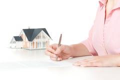 Contrato da hipoteca Imagem de Stock Royalty Free