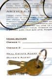 Contrato da venda Home Foto de Stock