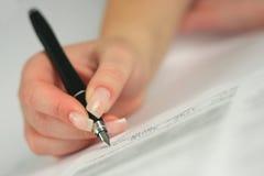 Contrato de assinatura Imagem de Stock Royalty Free