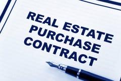 Contrato de compra dos bens imobiliários Imagem de Stock Royalty Free