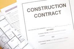 Contrato de construcción Imagen de archivo libre de regalías