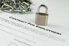 Contrato de empleo Foto de archivo libre de regalías