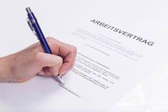 Contrato de emprego Imagens de Stock Royalty Free