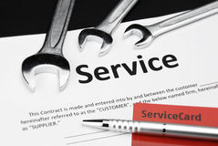 Contrato de serviço Fotografia de Stock Royalty Free