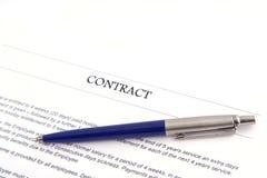 Contrato do negócio Imagem de Stock