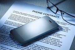 Contrato do telemóvel imagens de stock