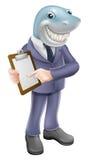 Contrato do tubarão do homem de negócios Imagens de Stock Royalty Free
