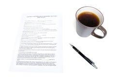 Contrato dos bens imobiliários Imagem de Stock Royalty Free