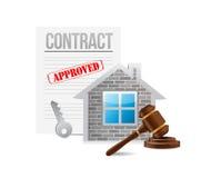 Contrato dos bens imobiliários do negócio Projeto da ilustração ilustração do vetor