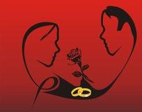 Contrato el el día de tarjeta del día de San Valentín Imagenes de archivo
