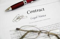Contrato legal Imagens de Stock Royalty Free