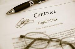 Contrato legal Imagem de Stock Royalty Free
