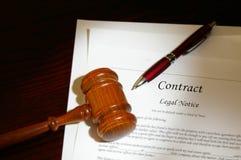 Contrato legal del asunto Imágenes de archivo libres de regalías
