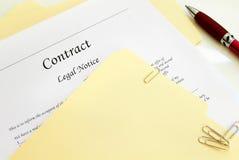 Contrato legal do negócio Imagens de Stock