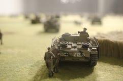 Contratorpedeiro de tanque alemão sobre o courtain do trigo, Prokhorovka Imagem de Stock
