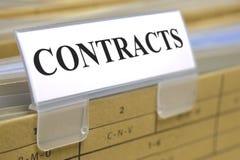 Contrats et documents Photos stock