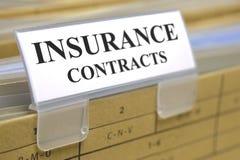 Contratti assicurativi Fotografia Stock