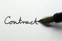 Contratto Fotografia Stock