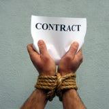 Contratto Fotografie Stock Libere da Diritti