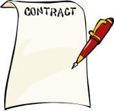 Contratto Immagine Stock