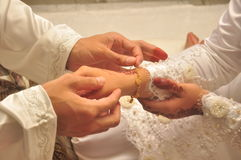 Contratto di matrimonio del Malay. Fotografia Stock Libera da Diritti