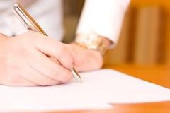 Contratto di sign Immagine Stock Libera da Diritti