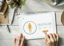 Contre- concept du régime APP de santé de calorie photo stock