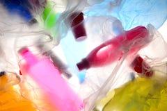 Contre-jour en plastique diffus de déchets images libres de droits