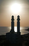 Contre-jour view to Mosque of the Divinity at sunset, Dakar, Senegal Royalty Free Stock Photo