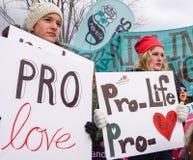 Contre l'avortement et l'euthanasie, Pro-amour photographie stock libre de droits