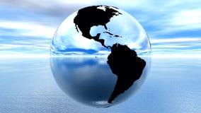 contre l'eau bleue de ciel de la terre illustration de vecteur