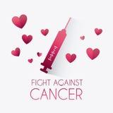 combat contre la campagne de cancer du sein illustration de vecteur image 59802957. Black Bedroom Furniture Sets. Home Design Ideas