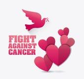combat contre la campagne de cancer du sein illustration de vecteur image 59803018. Black Bedroom Furniture Sets. Home Design Ideas
