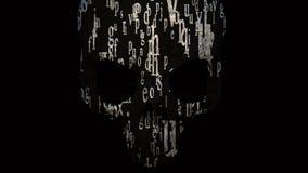 Contre la dépendance : nicotine, alcool, drogues Crâne - un symbole de la mort banque de vidéos