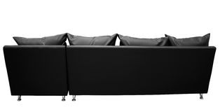 contre le blanc de sofa Images stock