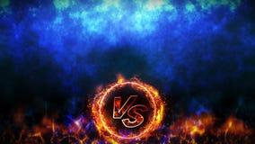 Contre le fond de combat Animation de boucle de concept de bataille et de comparaison Contre la compétition sportive de combat de illustration libre de droits