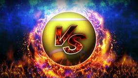 Contre le fond de combat Contre le combat de bataille Balle de tennis Animation de boucle de concept de bataille de sport illustration de vecteur