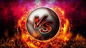 Contre le fond de combat Contre le combat de bataille base-ball Animation de boucle de concept de bataille de sport illustration libre de droits