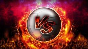 Contre le fond de combat Contre le combat de bataille Volleyball Animation de boucle de concept de bataille de sport illustration de vecteur