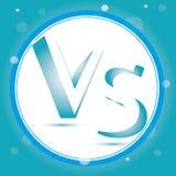Contre le logo CONTRE le vecteur marque avec des lettres l'illustration Icône de concurrence Symbole de combat Photo stock