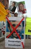 contre le protestst de l'Iran Images libres de droits