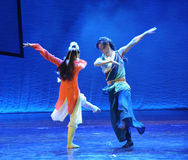Contredanse-The dance drama The legend of the Condor Heroes Stock Images