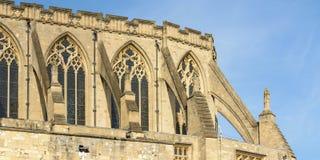 Contrefort de vol de cathédrale de Norwich image stock
