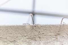 Contrete texture with wire mesh, contruction royalty free stock images