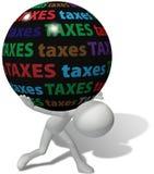Contribuable sous la grande charge fiscale injuste illustration libre de droits
