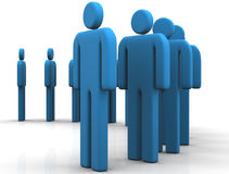 Contribute. Group of people ,standing contributing Stock Photography