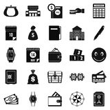 Contribution icons set, simple style. Contribution icons set. Simple set of 25 contribution vector icons for web isolated on white background Stock Photography